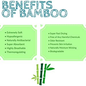 Bamboo burp cloths