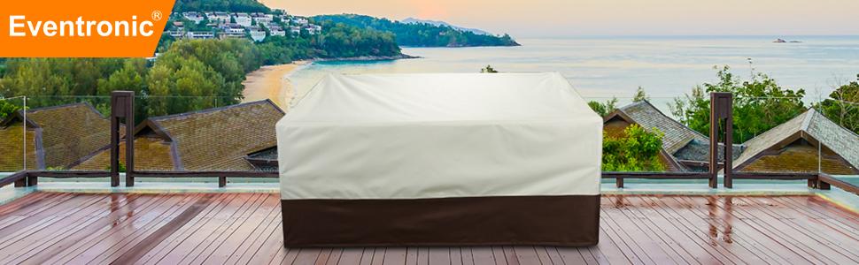 Outdoor sofa protective cover