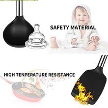 kitchen cooking silicone utensil set large holder dishwasher safe stainless steel bpa free kitchen