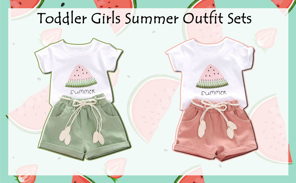 summer clothes set baby girl