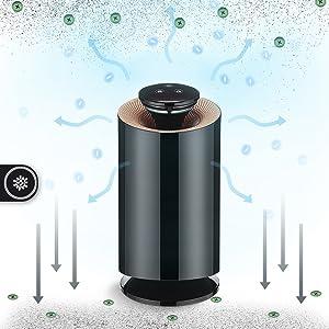 Purificador de aire antimosquitos con carbón activado, multifunción, antiácaros, filtro de humo cigarrillo, antimosquitos, absorbente de humedad, absorbente de olores, negro, 12.00V (Blanc): Amazon.es: Hogar