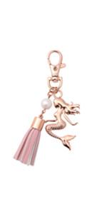 mermaid key chain for girls women charm