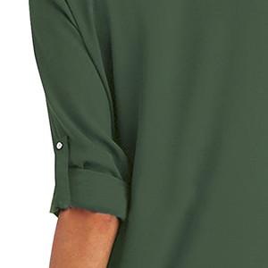 Sciolto Bluse V Scollo Pullover Puro Colore Tops Camicetta Maglie Moda Felpe