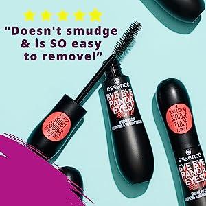 bye bye panda eyes mascara lash princess essence makeup cosmetics tubing formula volume length vegan