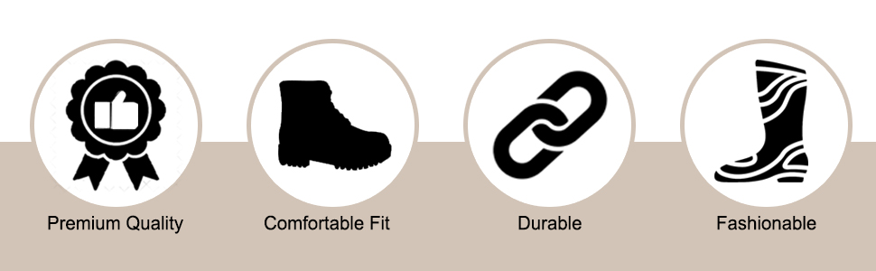 Outdoor work fashion boots with comfortable fit.
