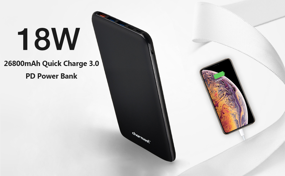 26800mAh 18W PD Quick Charge power bank