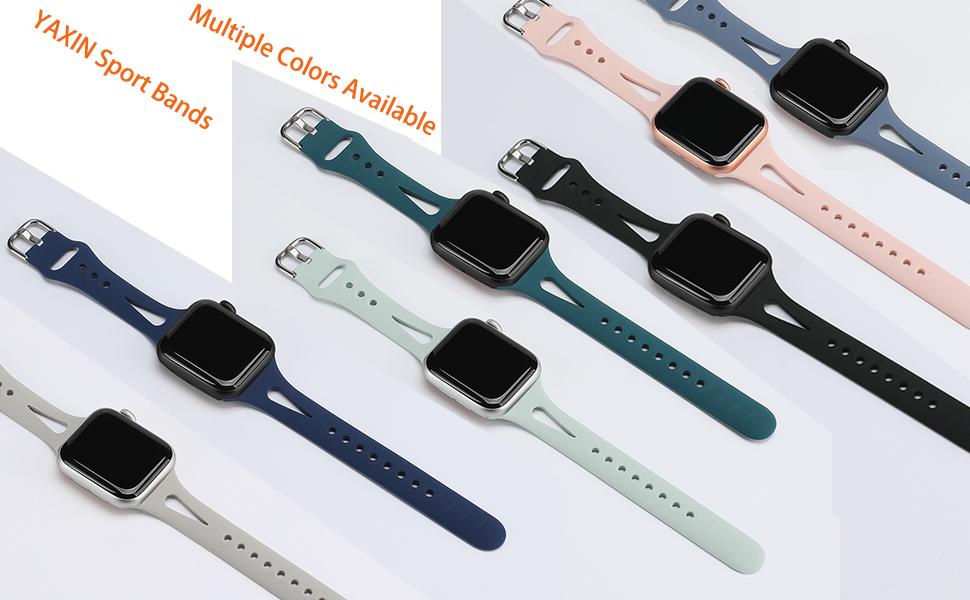 apple watch bands slim 38mm 40mm 42mm 44mm