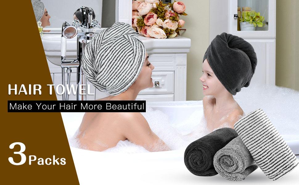 hair turbans for wet hair