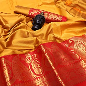 Golden Aura Silk Saree