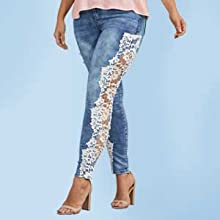 Image of woman in jeans with heels on.