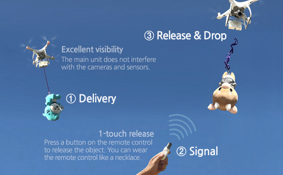 flifli airdrop system drop phantom 3 pro accessories professional advanced se 4k payload delivery