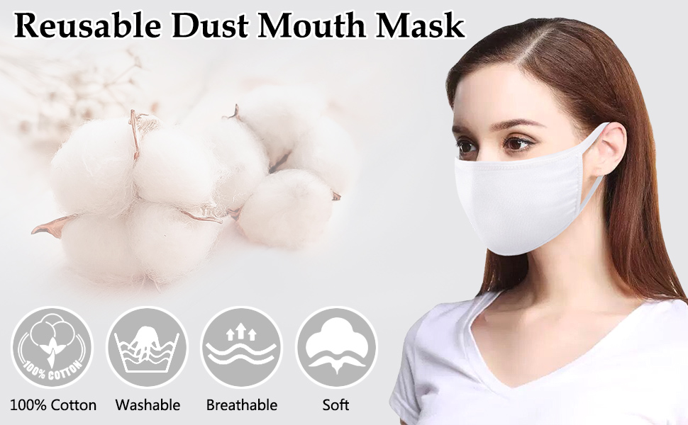 black face mask cotton mouth mask