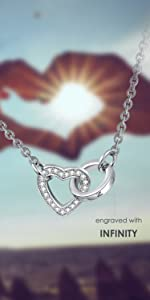 A002 Heart Infinity Necklace