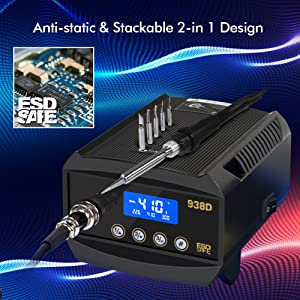 ESD Safe 2 in 1 Soldering Iron