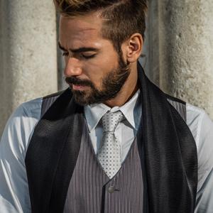 black silk tuxedo scarf for men