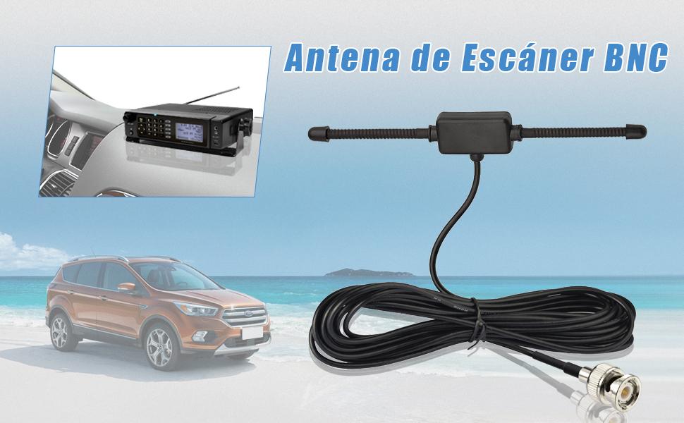 Bingfu VHF UHF Escáner de Policía de Camión Coche Vehículo Antena Montaje Adhesivo Radio CB Radioaficionado BNC Macho Antena Dipolo Compatible con ...