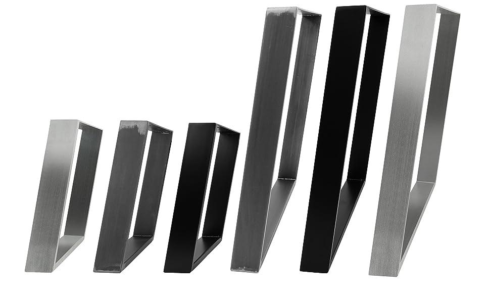 Industrial /& Wei/ß einfache Montage alle Gr/ö/ßen Schreibtisch Schwarz DIY Esstisch R/ückenlehnenhalter im Angebot 80x72 schwarz 2x Natural Goods Berlin TISCHKUFEN//-GESTELL Bank Couchtisch