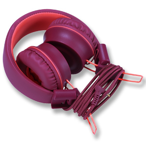 Plum Kids Headphones-noot products K33 Foldable Stereo Tangle-Free 3.5mm Jack Wired Cord On-Ear Headset for Children//Teens//Boys//Girls//Smartphones//School//Kindle//Airplane Travel//Plane//Table