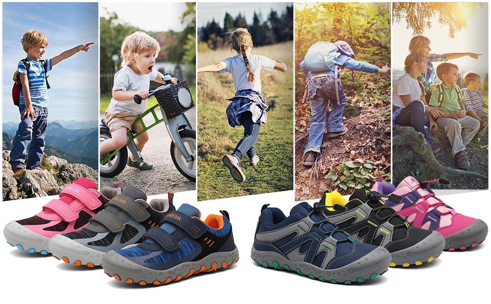 GR.24-38 EU Chaussures Enfant Chaussure Randonn/ée Gar/çon Antid/érapant Sneakers Fille L/éger Respirantes