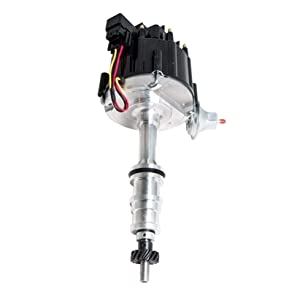 Vacuum Advance Top Street Performance JM6508BK HEI Distributor with Black Cap