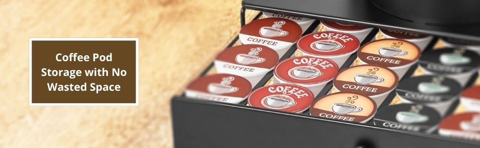drawer coffee pod storage with no wasted space nifty solutions
