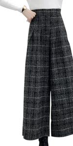 あたたかい ワイド フェイクウール ボトムス ガウチョ チェック モノトーン おしゃれ パンツ ズボン チェック 柄 無地 スカンツ ゆったり らくらく 大き い おおきい サイズ 服 ファッション