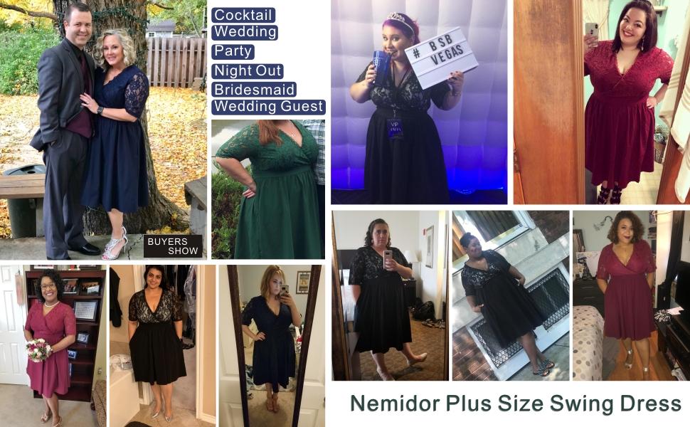 Plus Size Cocktail Party Dress Plus Size Dress for Wedding Guest Plus Size Vintage Swing Dress