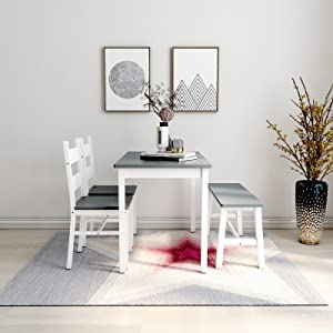 4pcs table chairs
