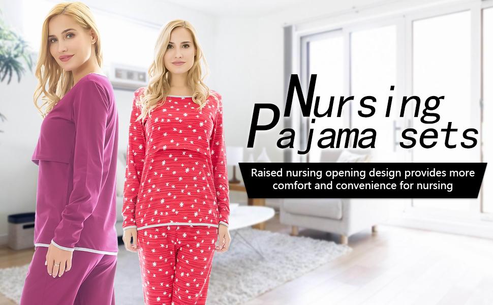Nursing Pajamas Sets 02