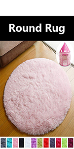 pink round rugs