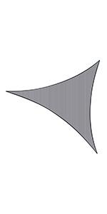 Sunnylaxx Vela de Sombra Triangular 3 x 3 x 4.2 Metros, toldo ...