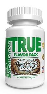 true nutrition trueflavor cafe mocha custom protein powder