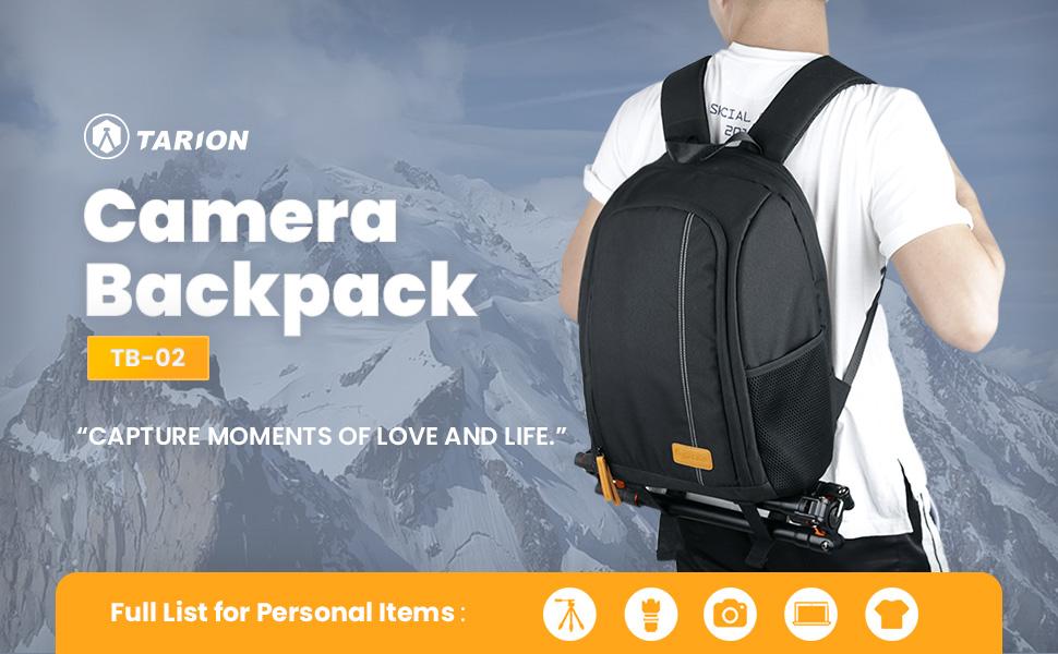 camera backpack bag black small waterproof