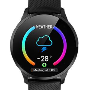 Notification & Weather Display