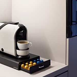 tiroir capsule cafe dosette rangemenet support machine cafe