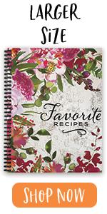 """softcover, 8.5"""" x 11"""", favorite recipes, homemade"""