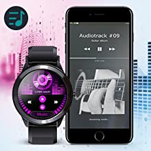 Android smart watch with music control