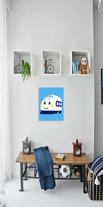 "Arte Vita DIY Acrylic Painting, Paint by Number Kits for Kids Beginner - Kids Excavator 8"" x 8"""