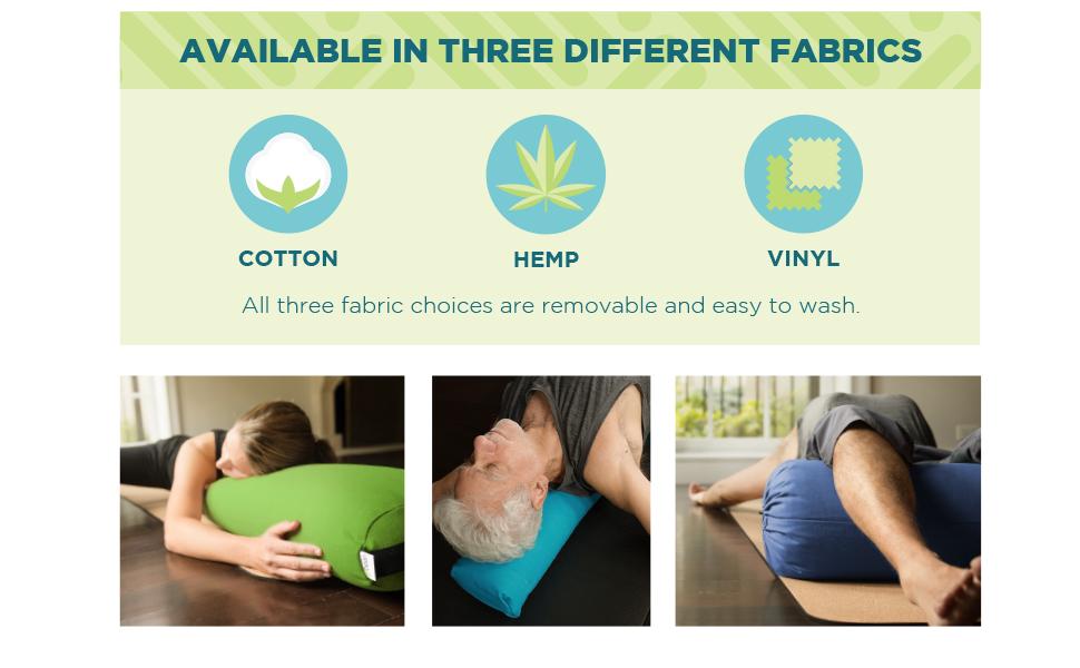 bean products yoga bolster pillow cotton hemp vinyl