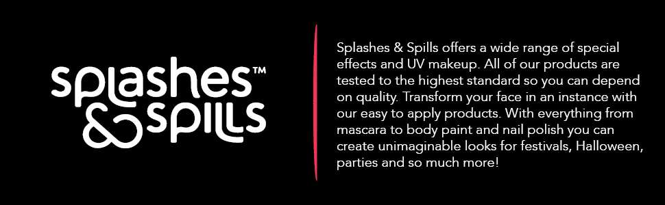 Splashes and spills premium quality make up special effect FX halloween holiday party