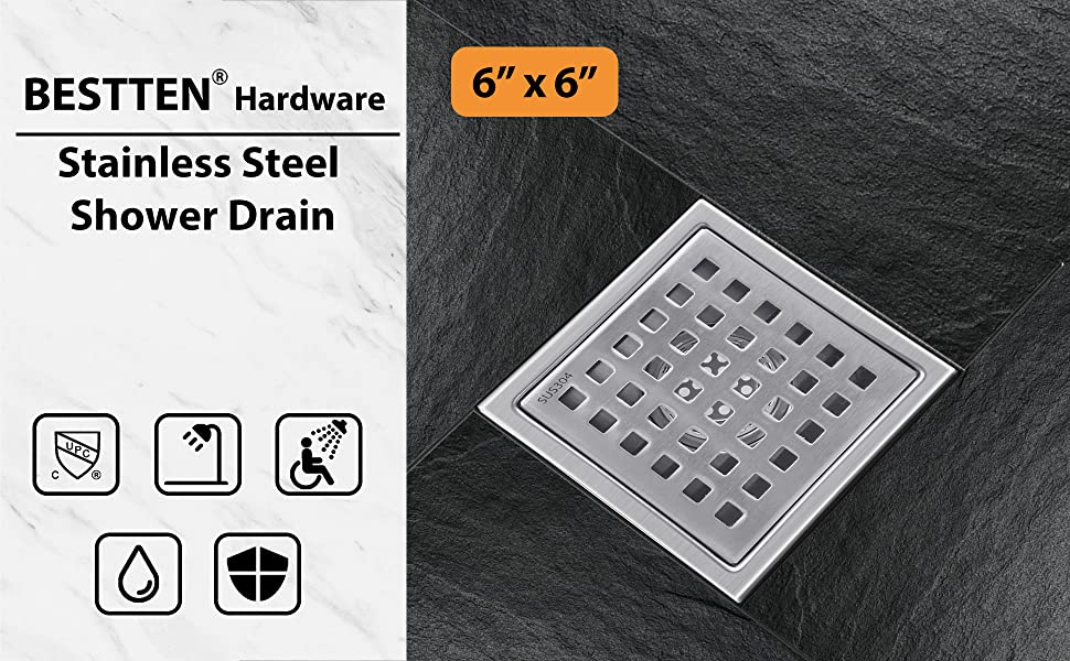 Square Shower Floor Drain