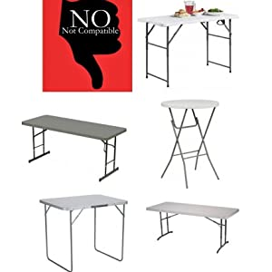 folding table risers,table extenders,table lift,table risers,extenders