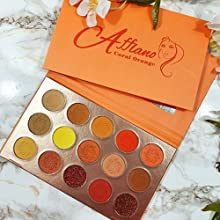 red orange Beauty New Cosmetics 9 Colors Shimmer Eyeshadow Matte Glitter Eye Shadow Palette