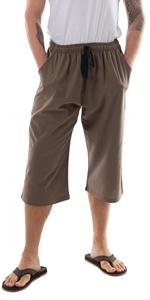 mens black white casual summer beach cargo capri capris workout pajama yoga pants cotton big tall