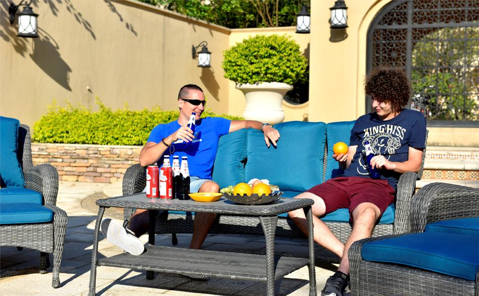 Outdoor Wicker Sofa Patio Furniture Se