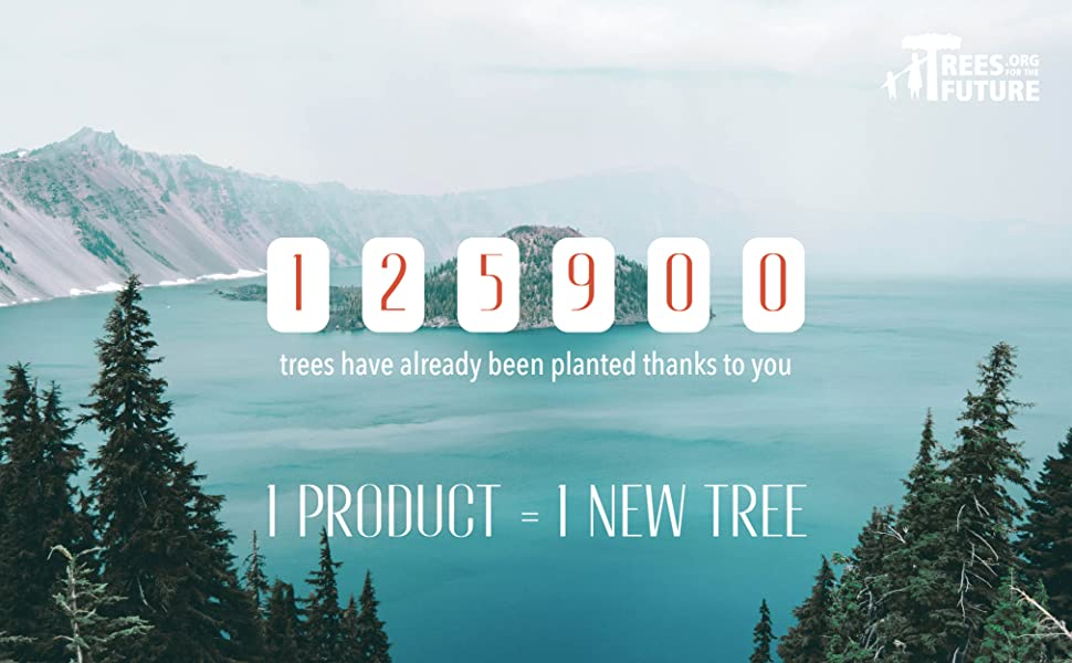 For every sold product we plant a new tree together with trees for the future