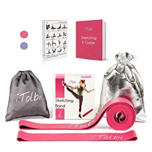 gymnastics gifts stretch straps resistance bands for stretching pink resistance bands dance supplies