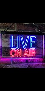 ADVPRO LIVE ON AIR Recording Studio LED Neon Sign Professional Home decoration big text dual color