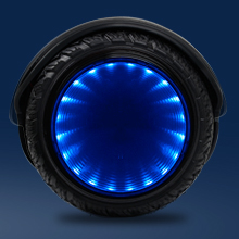 Flash hoverboard with LED mirror wheel