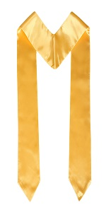 graduation stole gold